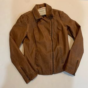 Anthro Cartonnier Jacket size 4 EUC. Vegan leather